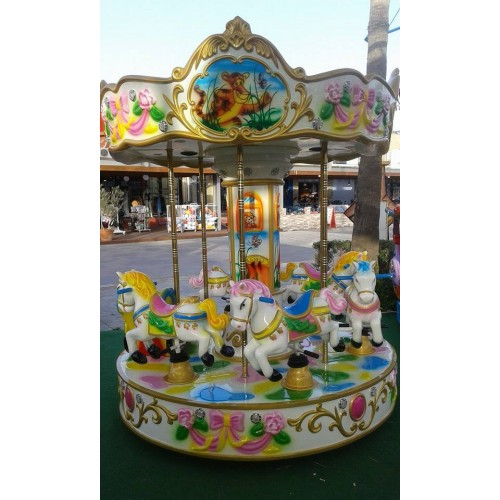 6 seats pony carousel